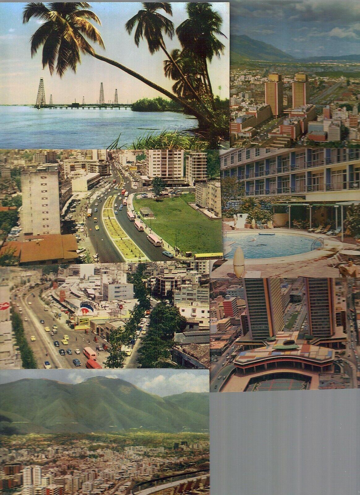 pc12136 postcard Caracas Venezuela SEVEN not poatally used