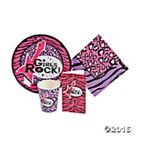 Girls Rock Rock Star Diva Birthday Party Supply Kit W/table Ware & Invites