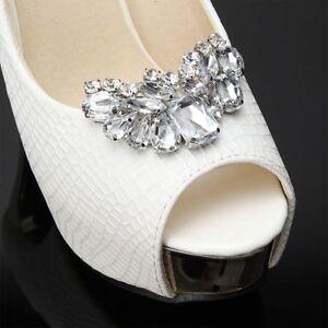 1PC-Chic-Rhinestone-Crystal-Pearl-Shoe-Clips-Tone-Buckle-Wedding-Party-Decor