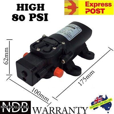 12V 80Psi Water Pump High Pressure 4L/min Self-Priming Caravan EXPRESS & WNTY