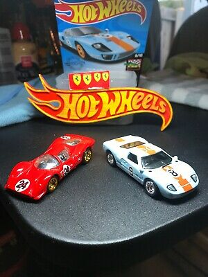 Contemporary Manufacture Toys Hobbies Hot Wheels Ford Gt 40 Set Of 5 Colors 4 Gt Race 40 And 1 Silver Gt 40