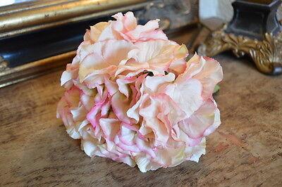 Antique Pink Faux Silk Hydrangeas. Individual Artificial Hydrangea Flowers