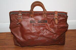 Vintage-Bell-System-A-T-amp-T-Tool-Bag-Lineman-039-s-Bag-Klein-amp-Bunrke