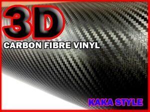 HOT Pink【A4 300MM X 200MM BUBBLE Free】3D CARBON FIBRE Vehicle Wrap Vinyl Sticker