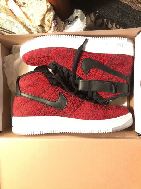 MEN's NIKE AIR ULTRA FLYKNIT MID Red Black 817420 600 Size 10