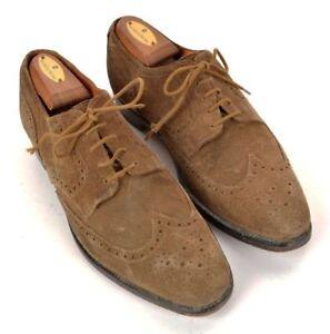 NEW-amp-LINGWOOD-Beige-Snuff-Suede-Wingtip-Mens-Shoes-Sneakers-UK-8-US-8-5