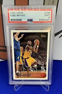 1996-97 Topps Kobe Bryant RC Rookie MINT PSA 9 MINT #138 Los Angeles Lakers