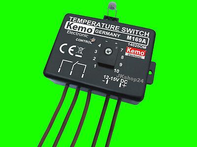 Temperatur Regler Thermostat Temperaturschalter mit Sensor 12 VDC B14