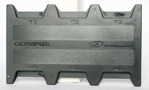 Olympus black plastic Holder for up to 6 XD memory cards