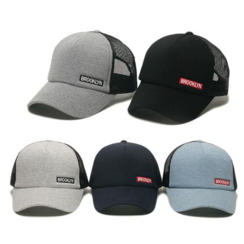 Unisexe Hommes Femmes Brooklyn aérée Summer Mesh Casquette de base-ball Snapback Trucker Hats