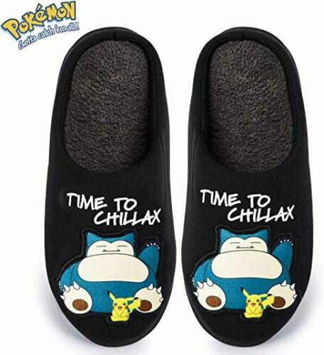 Pokemon Slippers with Snorlax Pikachu Anti-Skid Rubber Sole for Dad Men
