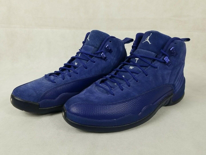 Nike Air Jordan 12 Retro Deep Royal Blue Sneaker Men's Size 12 Shoes 130690-400