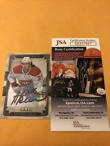 Alexander Romanov Signed Montreal Canadiens Card *sticker Auto COA