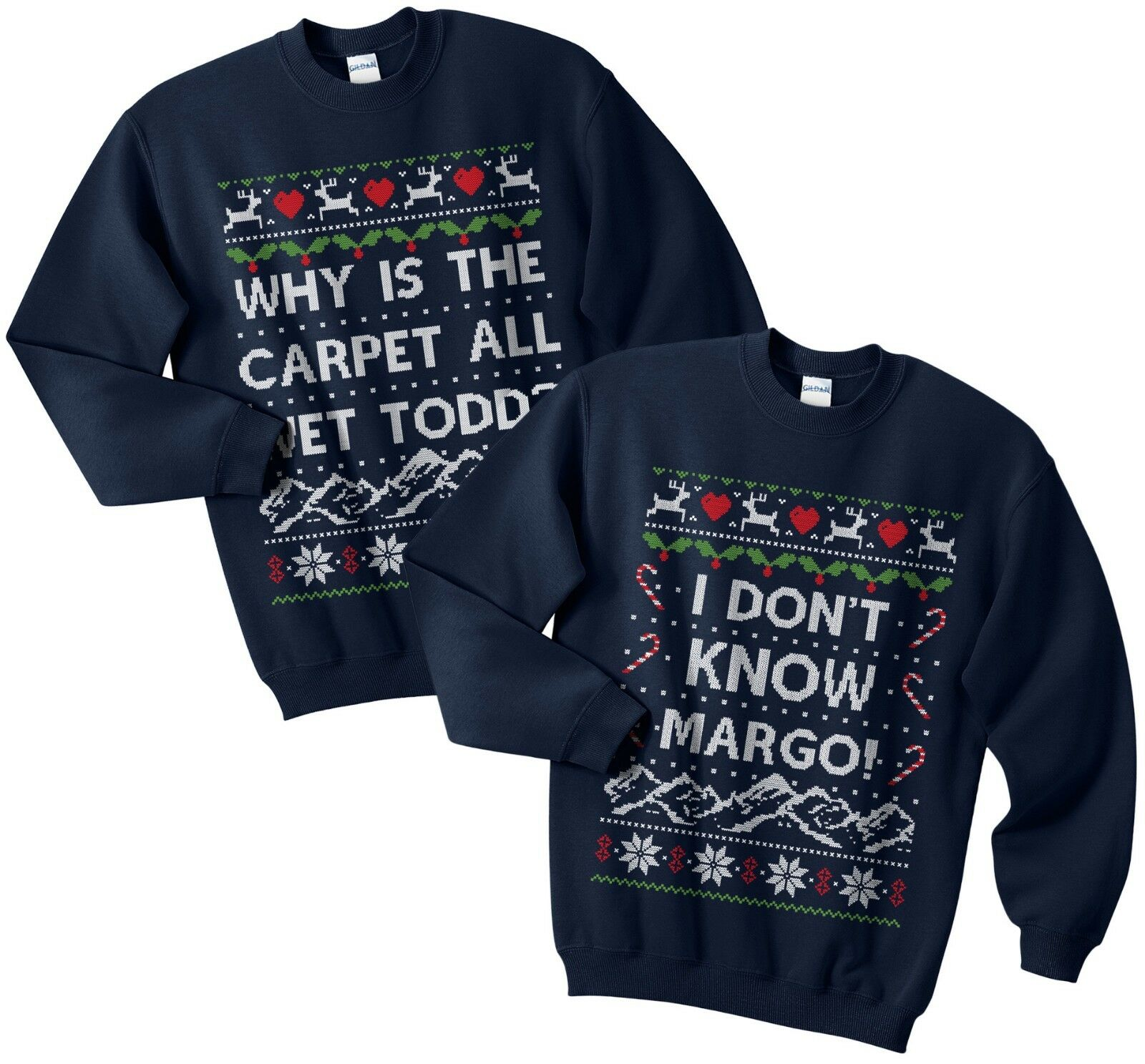 0e7f8e613418 Perché il tappeto tutti tutti tutti Wet Todd Christmas Sweater Jumper Set  Diverdeente corrispondenti Margo ffae72