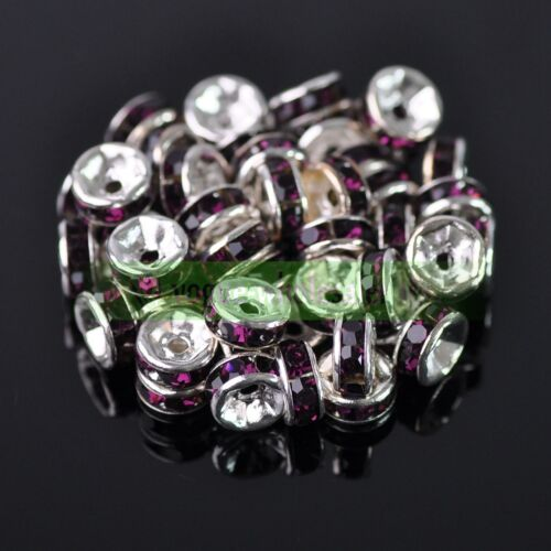 Wholesale Tchèque Cristal Strass Blotter Loose Spacer Beads 4//5//6//8//10//12mm