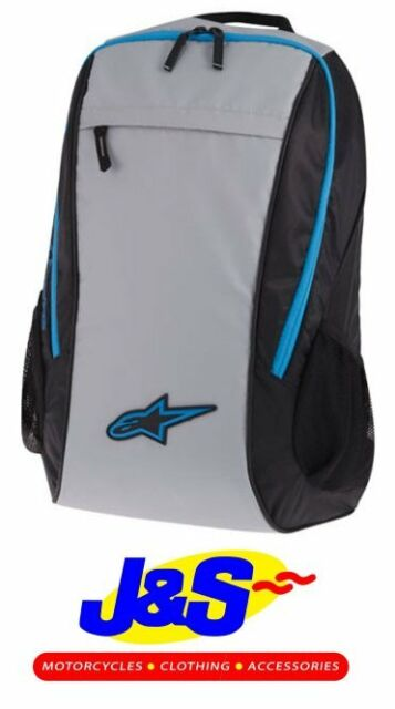 ALPINESTARS LITE BACK PACK BLACK GREY BLUE LUGGAGE MOTORCYCLE NEW SALE J&S