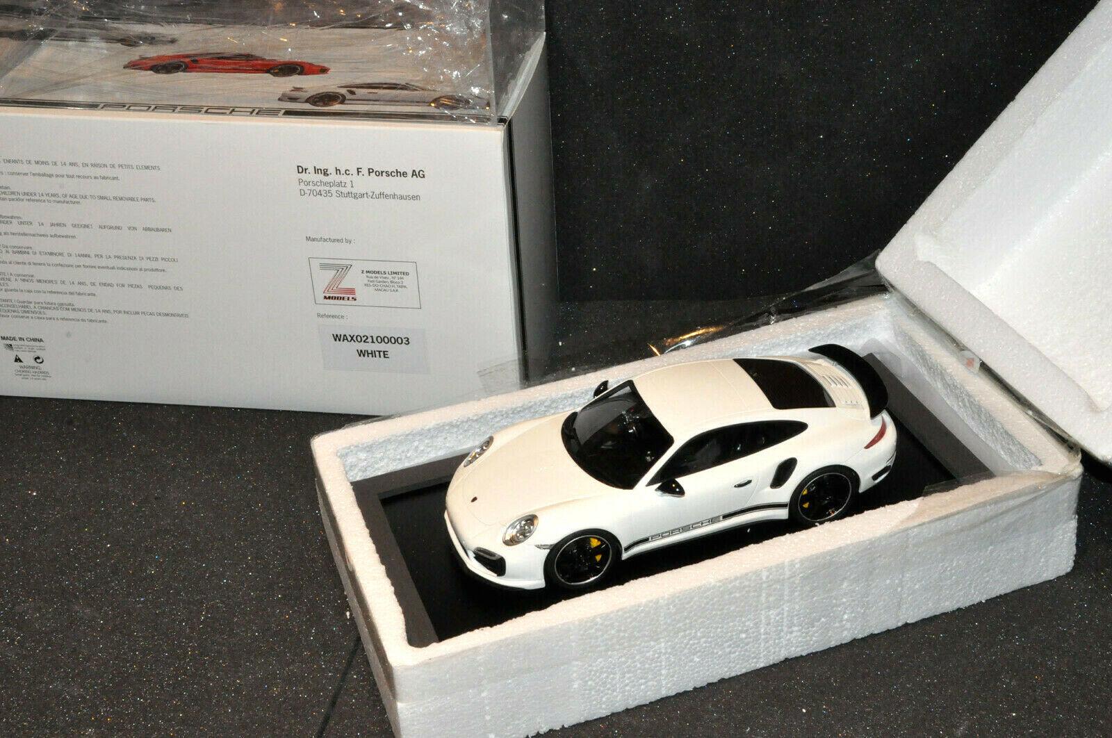 1 18 PORSCHE 911 Turbo S Exclusive Edition Go RHD blanc Nouveau neuf dans sa boîte