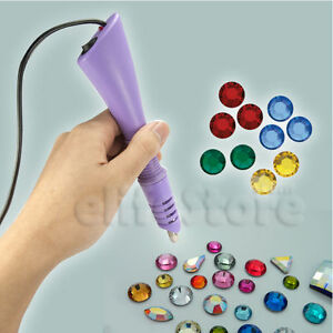 Rhinestone-Hot-fix-Applicator-Wand-Crystal-Gems-Jewellery-Design-Decoration