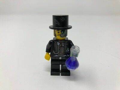 Series 9 Lego mini figure MR GOOD AND EVIL with flask