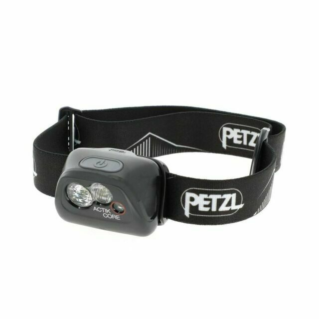 Black Sports Outdoors Lightweight Petzl Unisex Actik Core Headlamp