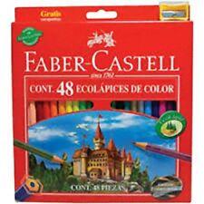 48 PASTELLI MATITE COLORATE FABER CASTELL ECO TEMPERALAPIS IN OMAGGIO 111248