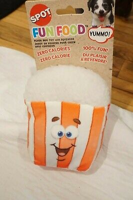 NWT SPOT DOG TOY PLUSH BLUEBERRY MUFFIN WITH SQUEAKER