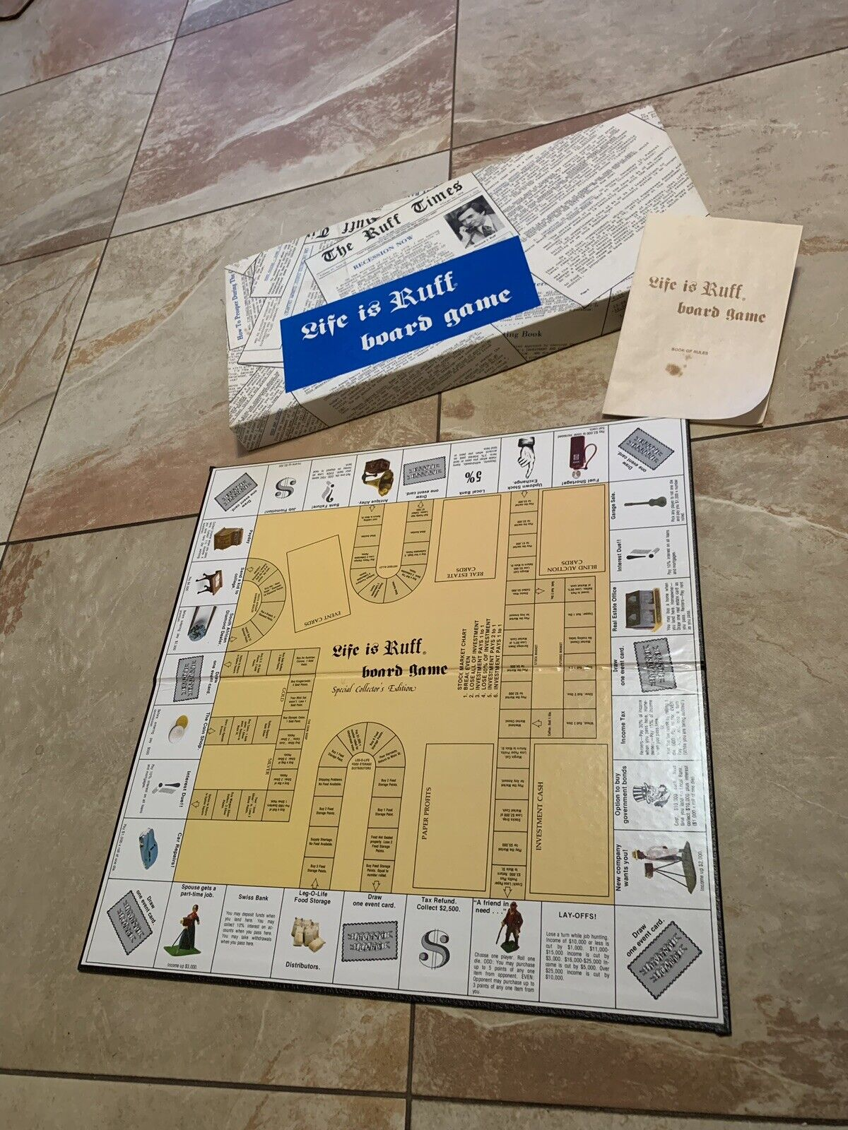 Vintage 1979  LIFE IS RUFF  Board Game  Financial Strategies for Hard Times RARE