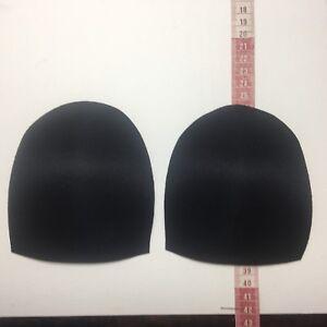 Insert-Strapless-Molded-Bra-Cups-Size-12-Black-Poly-Nylon-Covered