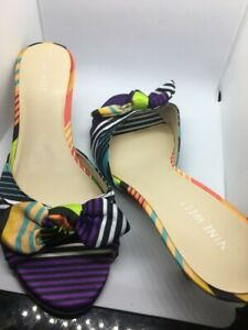 Multi-colored-Low-heels-shoes-by-Nine-West-size-8