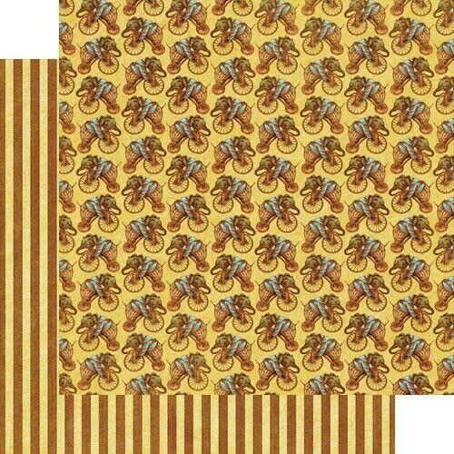 Graphic 45 Le Cirque Collection 12 x 12 Cardstock Circus Show Big Top  U PICK