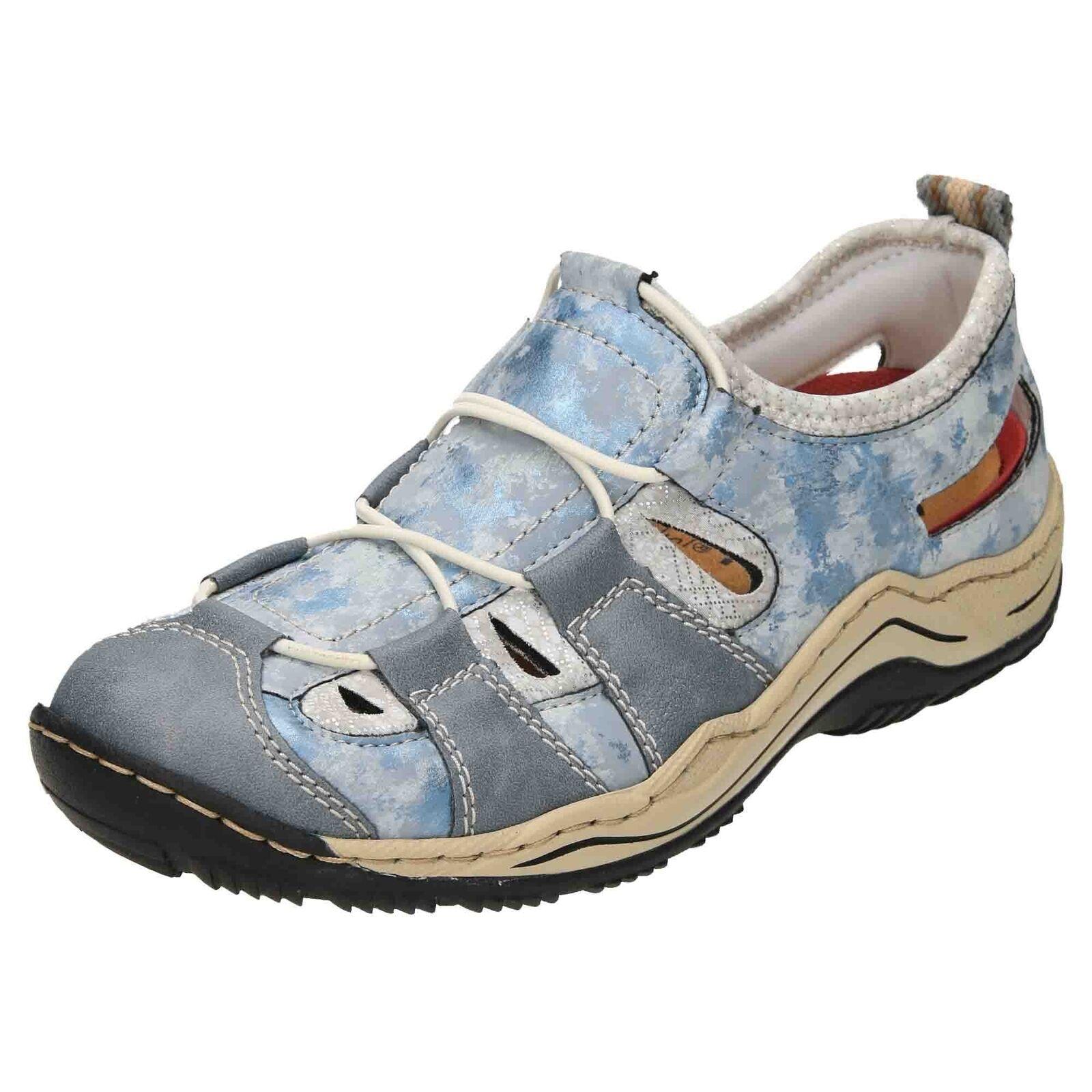 Rieker L0561-12 slip on cut out Baskets Sport Plat Chaussures De Loisirs Sandales Escarpins