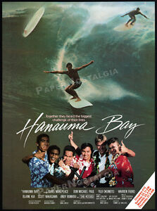 HANAUMA-BAY-ALOHA-SUMMER-Orig-1986-Trade-Print-AD-TIA-CARRERE-Surfing