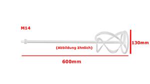 Metabo Rührstab Rührer RS3 M14 Ø 130mm L 600mm Collomix Guede Makita