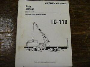 Terex Stinger TC-110 Truck Mounted Boom Crane Parts Catalog