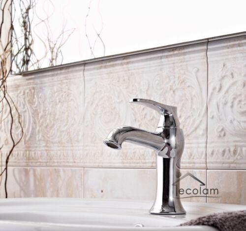 Waschtischarmatur Einhebelmischer Waschbecken Chrom Wasserhahn Armatur Retro AD