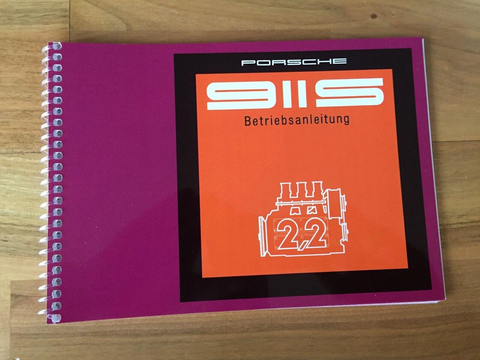 Porsche 911 s 2,2 manual de instrucciones de 70' 71' f modelo