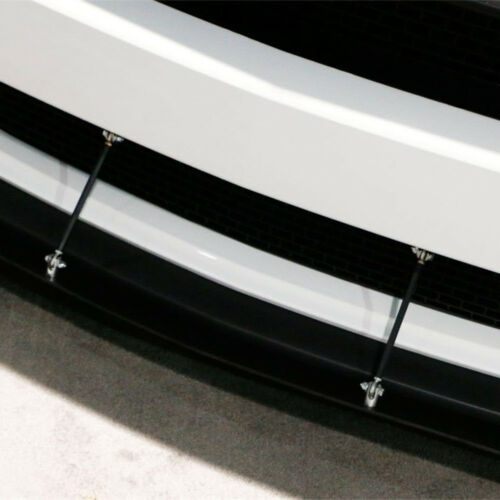 Black Adjustable Stainless Steel Car Front Bumper Lip Splitter Rod Tie Bars JDM