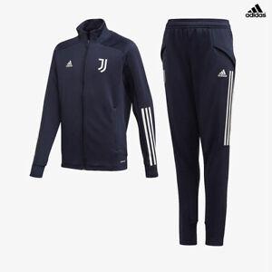 Dettagli su Juventus Tuta Allenamento Junior Blu Stagione 2020/21 adidas Aeroready Bambino