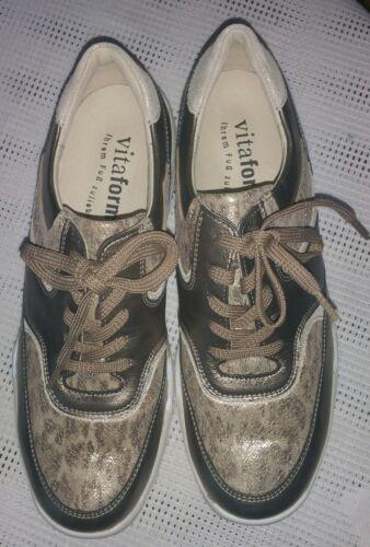 H large en Vitaform Nouveau vert vᄄᆭritable 40 femme cuir Gr olive Sneaker semelle hrBsQCdxt
