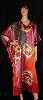 Sante' Red & Purple Sequins S M L Xl 1x 2x 3x 4x 5x Plus Muu Muu Caftan