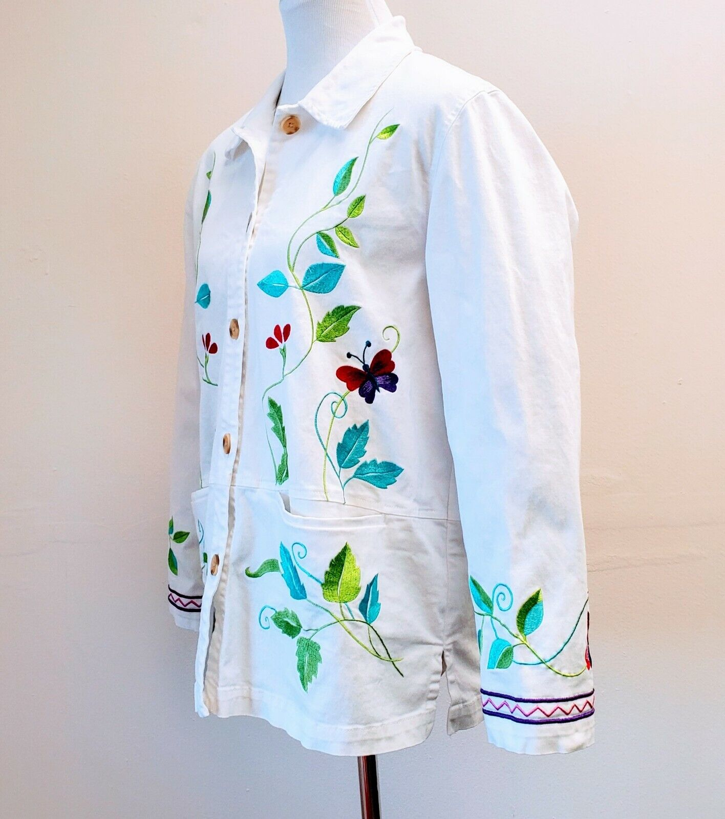 DENIM & CO. Embroidered Cotton Jacket please see … - image 2