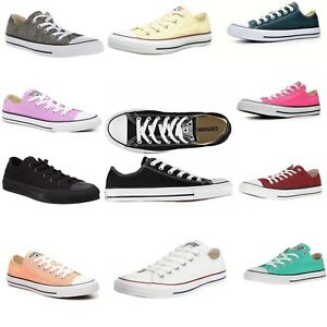 Womens Converse Shoes All Star Chuck Taylor Unisex Low Top Classic ... b9f3b6e80