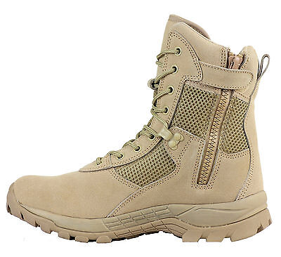 Maelstrom® LANDSHIP 8''  Tactical Duty Work Boots with Zipper (Minor Defect)