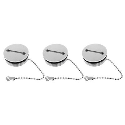Fuel//Water//Gas Replacement Stainless Steel Deck Fill Filler Cap with Chain