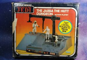 BOX-ONLY-Vintage-Star-Wars-Jabba-the-Hutt-Dungeon-Action-Playset-Kenner-play-set