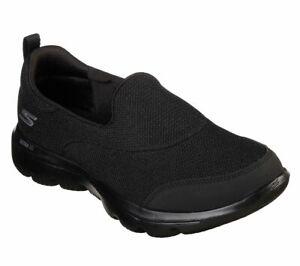 Detalles de Mujer Skechers Gowalk evolución Ultra alcanzan Negro Slip On 15730BBK ver título original
