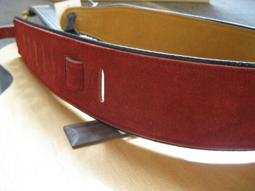 GITARRENGURT,Band36 echtes Wild-Leder ROT,Länge bis147cm,breite7cm-guitar strap!