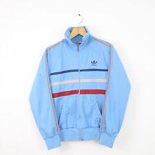 Vintage ADIDAS 80s Blue Striped Ventex Tracksuit Jacket   Retro Trefoil   Small