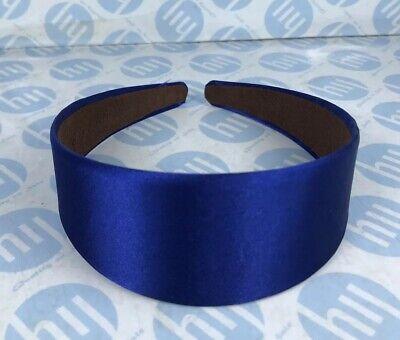 Bright Blue Satin Alice Band