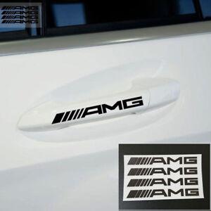 4PCS-Emblem-Aufkleber-AMG-fuer-Mercedes-Benz-Chrome-Logo-Schriftzug-Plakette-Neu
